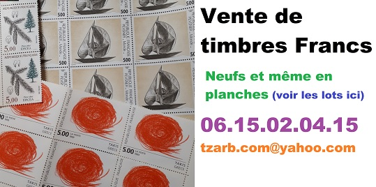 vente de timbres telephonez au 06 15 02 04 15